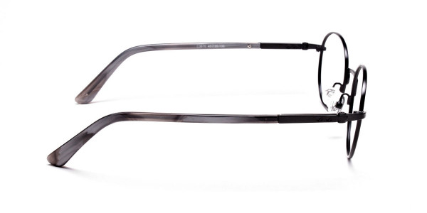 Round Glasses in Black, Eyeglasses - 4