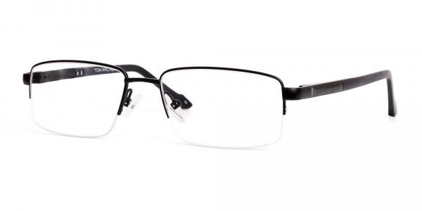 simple-black-half-rim-rectangular-glasses-frames -3