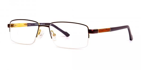 brown-rectangular-half-rim-rectangular-glasses-frames -3
