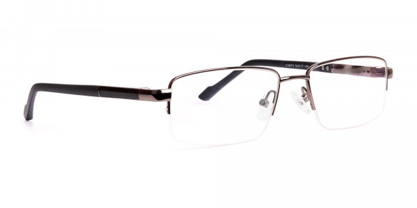 gunmetal-and-black-half-rim-rectangular-glasses-frames -2