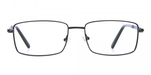 Rectangular Glasses in Black & Silver -1