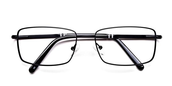 Rectangular Glasses in Black & Silver -6