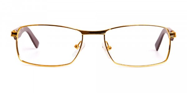 gold-and-matte-brown-rectangular-glasses-frames-1
