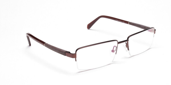 Rectangular Glasses in Brown, Eyeglasses -2