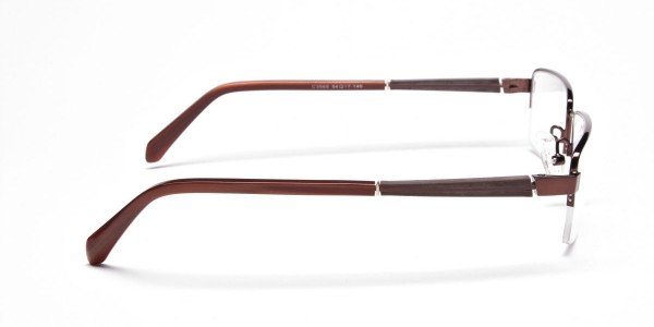 Rectangular Glasses in Brown, Eyeglasses -4