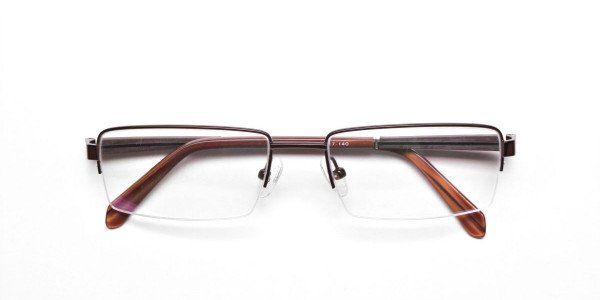 Rectangular Glasses in Brown, Eyeglasses -6