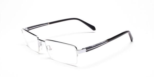 Silver Rectangular Glasses, Eyeglasses -3