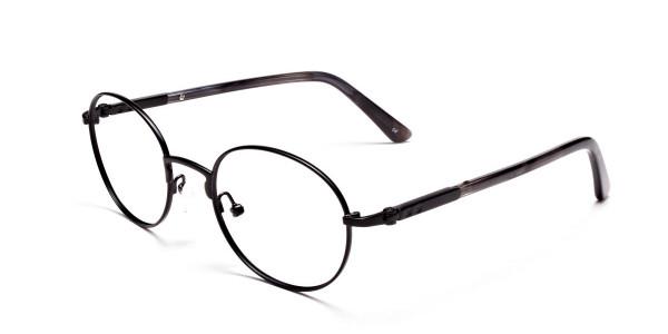 Round Glasses in Black, Eyeglasses - 3