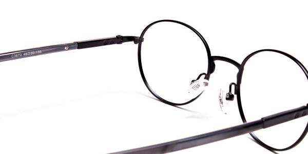Round Glasses in Black, Eyeglasses - 5