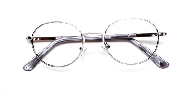 Round Glasses in Gunmetal, Eyeglasses - 6