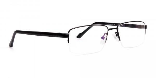 simple-black-half-rim-rectangular-glasses-frames -2