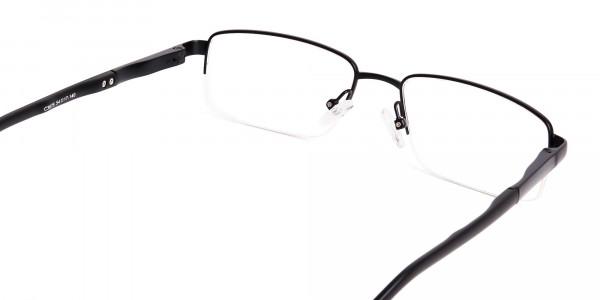 simple-black-half-rim-rectangular-glasses-frames -5