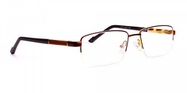 brown-rectangular-half-rim-rectangular-glasses-frames -2