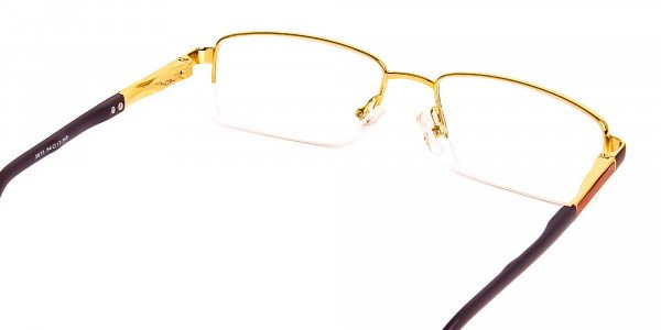 brown-rectangular-half-rim-rectangular-glasses-frames -5