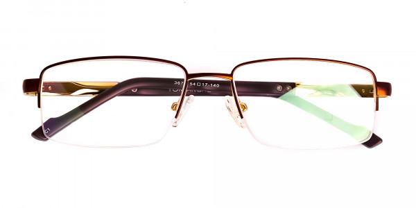 brown-rectangular-half-rim-rectangular-glasses-frames -6