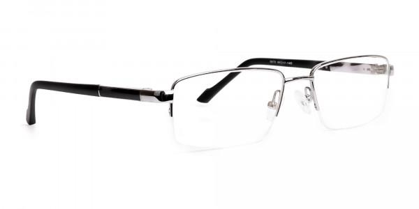 silver-and-black-half-rim-rectangular-glasses-frames -2