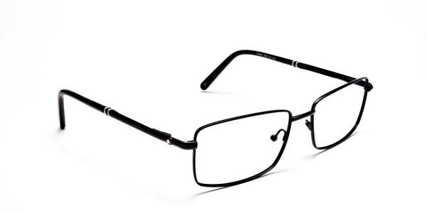 Rectangular Glasses in Black & Silver -2