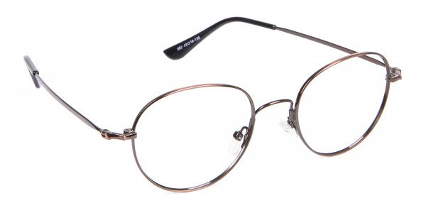 Thin Metal Retro Round Frame in Brown-2