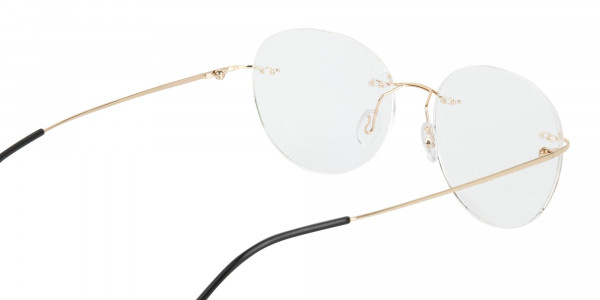 Gold Rimless Round Glasses-5