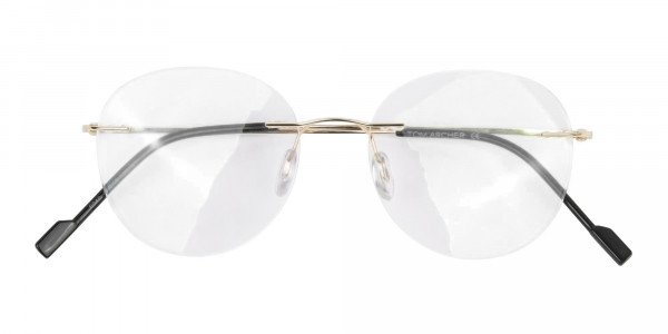 Gold Rimless Round Glasses-6