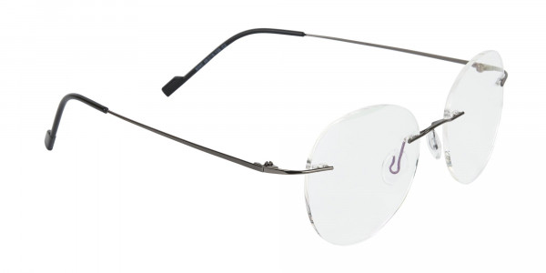 Gunmetal Rimless Round Glasses-2