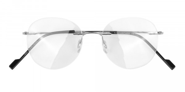Silver Rimless Round Glasses in Metal-6
