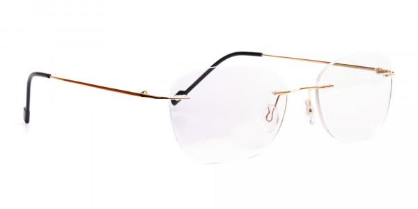 gold-rimless-titanium-glasses-frames-2