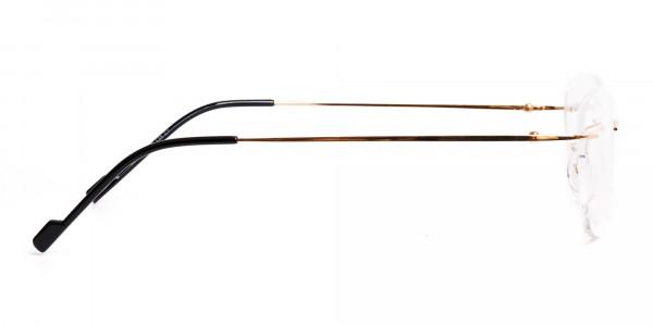 gold-rimless-titanium-glasses-frames-4