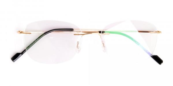gold-rimless-titanium-glasses-frames-6