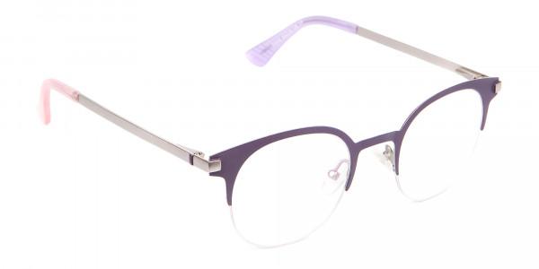 Violet Purple Browline Glasses Glasses Online-2