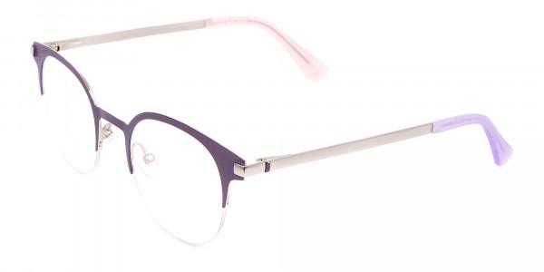 Violet Purple Browline Glasses Glasses Online-3