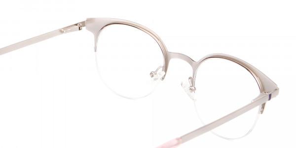 Violet Purple Browline Glasses Glasses Online-5