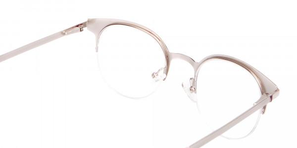 Woman 50's Retro Round Half-Rims Glasses UK-5