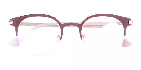Woman 50's Retro Round Half-Rims Glasses UK-6