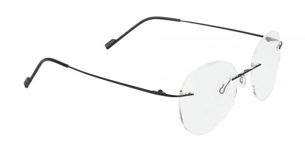 Black Rimless Round Glasses-2