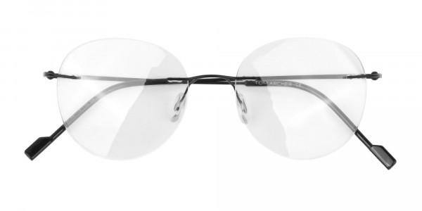 Black Rimless Round Glasses-6