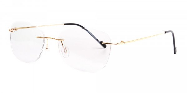 gold-rimless-titanium-glasses-frames-3