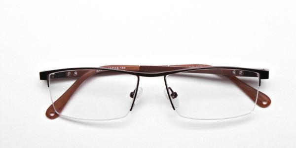 Luscious Chocolate Brown Half-Rim Frame -6