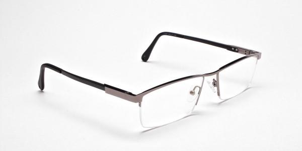 Classic Collection Gunmetal Rectangular Glasses -2