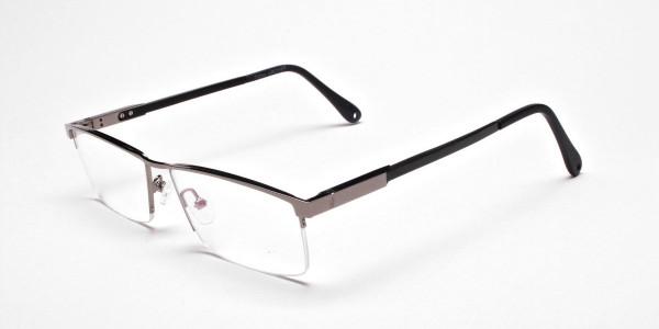 Classic Collection Gunmetal Rectangular Glasses -3