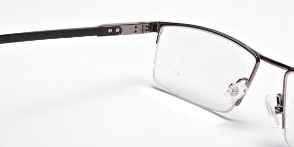 Classic Collection Gunmetal Rectangular Glasses -5