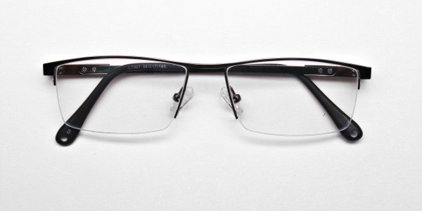 Classic Collection Gunmetal Rectangular Glasses -6
