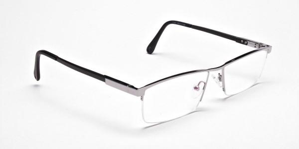 Smart Half-Rim Glasses Gunmetal & Silver  -2