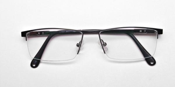 Smart Half-Rim Glasses Gunmetal & Silver  -6