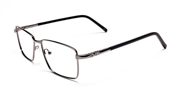 Rectangular Glasses in Gunmetal for Men & Women -3