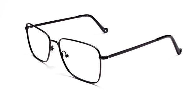 Black Rectangular Glasses, Eyeglasses -3