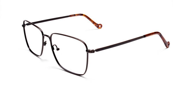 Brown Tortoiseshell Rectangular Glasses -3