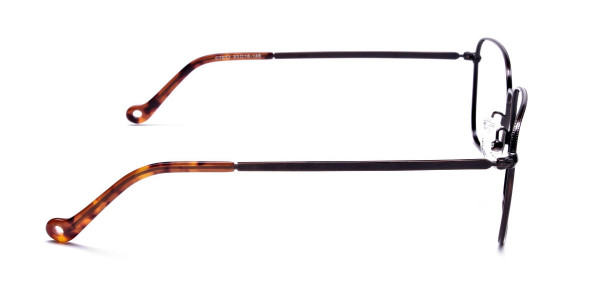 Brown Tortoiseshell Rectangular Glasses -4