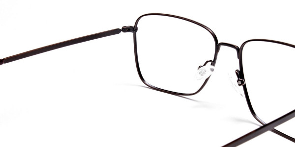Brown Tortoiseshell Rectangular Glasses -5