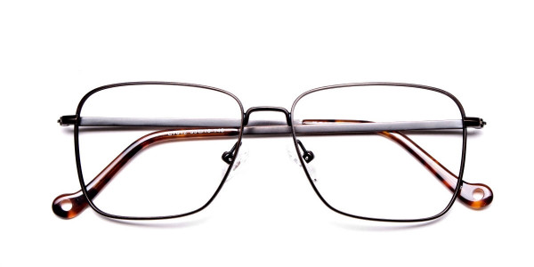 Brown Tortoiseshell Rectangular Glasses -6